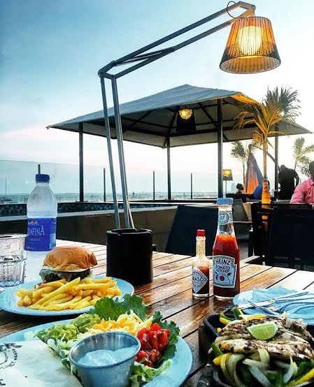 Burgers + Tacos at the beachfront - Hard Rock, Lagos.