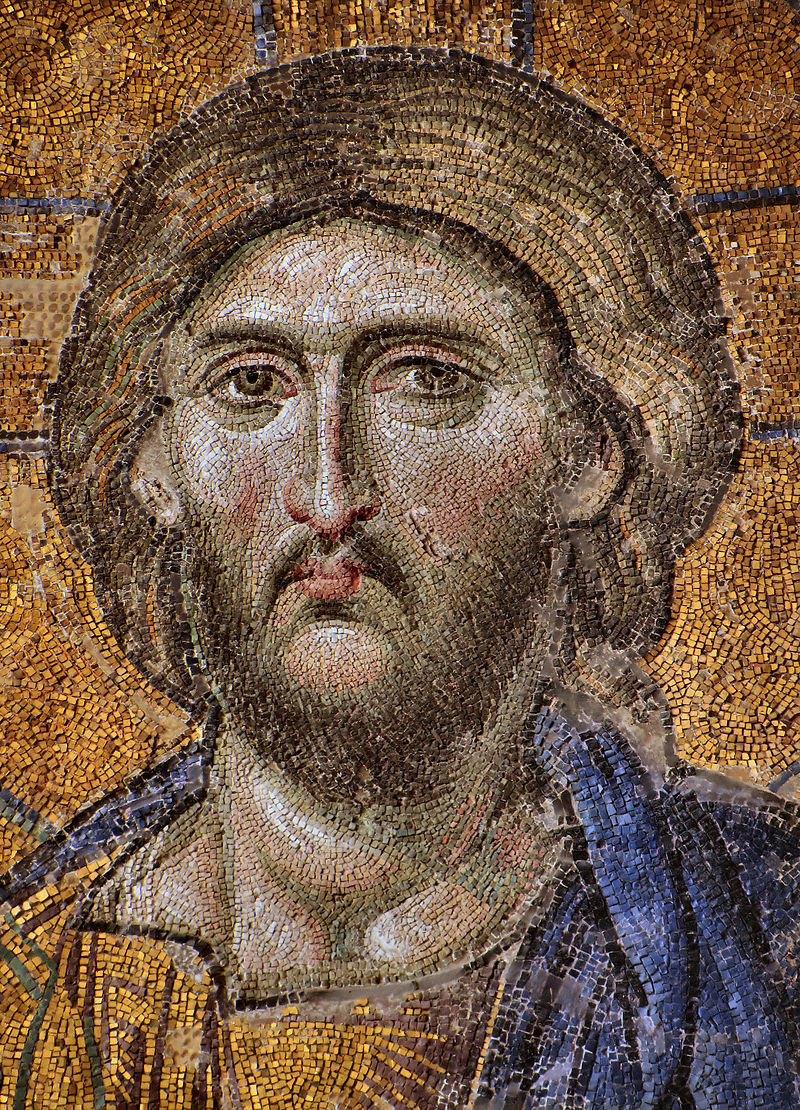 """Mosaic of Christ"". Mosaic 9th Century. From Hagia Sophia, Istanbul."