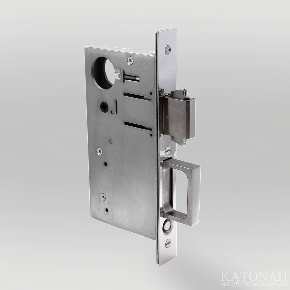 Combination Pocket Door Lock And Edge Pull