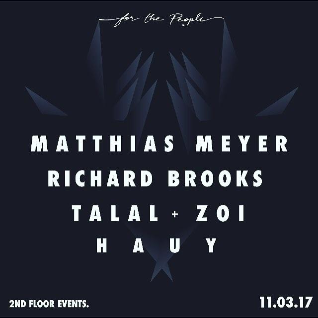 A few more days till Matthias Meyer!! Along side @hauy_music, @richardbrooksmusic and @talal_chaud & @zoi_dj ⚡️⚡️⚡️#black #white