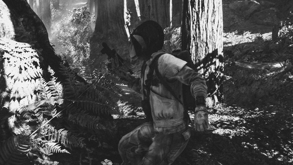 We rushed to the area on a stolen Speeder Bike and it didn't take long for us to receive fire. It was a huge ambush, the Imperial forces had the Rebels surrounded by troops, bikes and walkers,  but the Rebels knew how to use the trees and covers for their advantage.