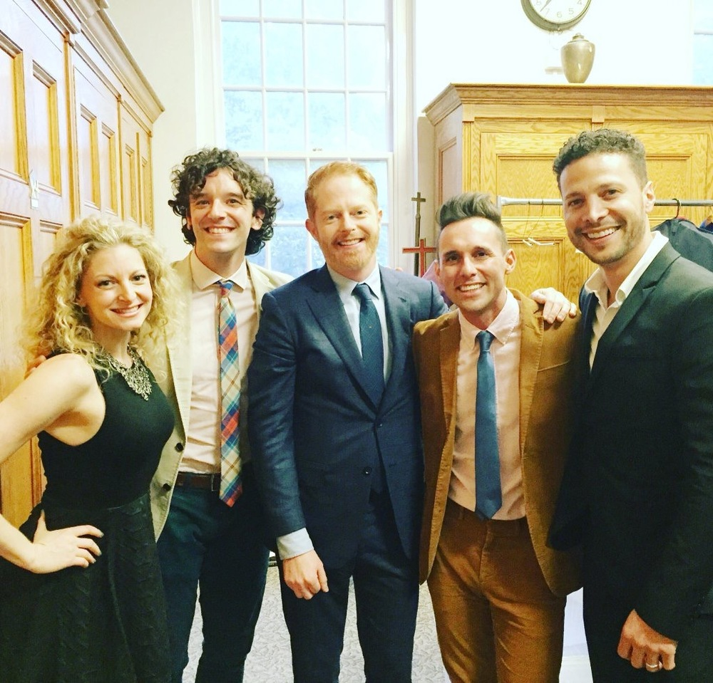 (Left to Right) Lauren Molina, Michael Urie, Jesse Tyler Ferguson, Nick Cearley, JG