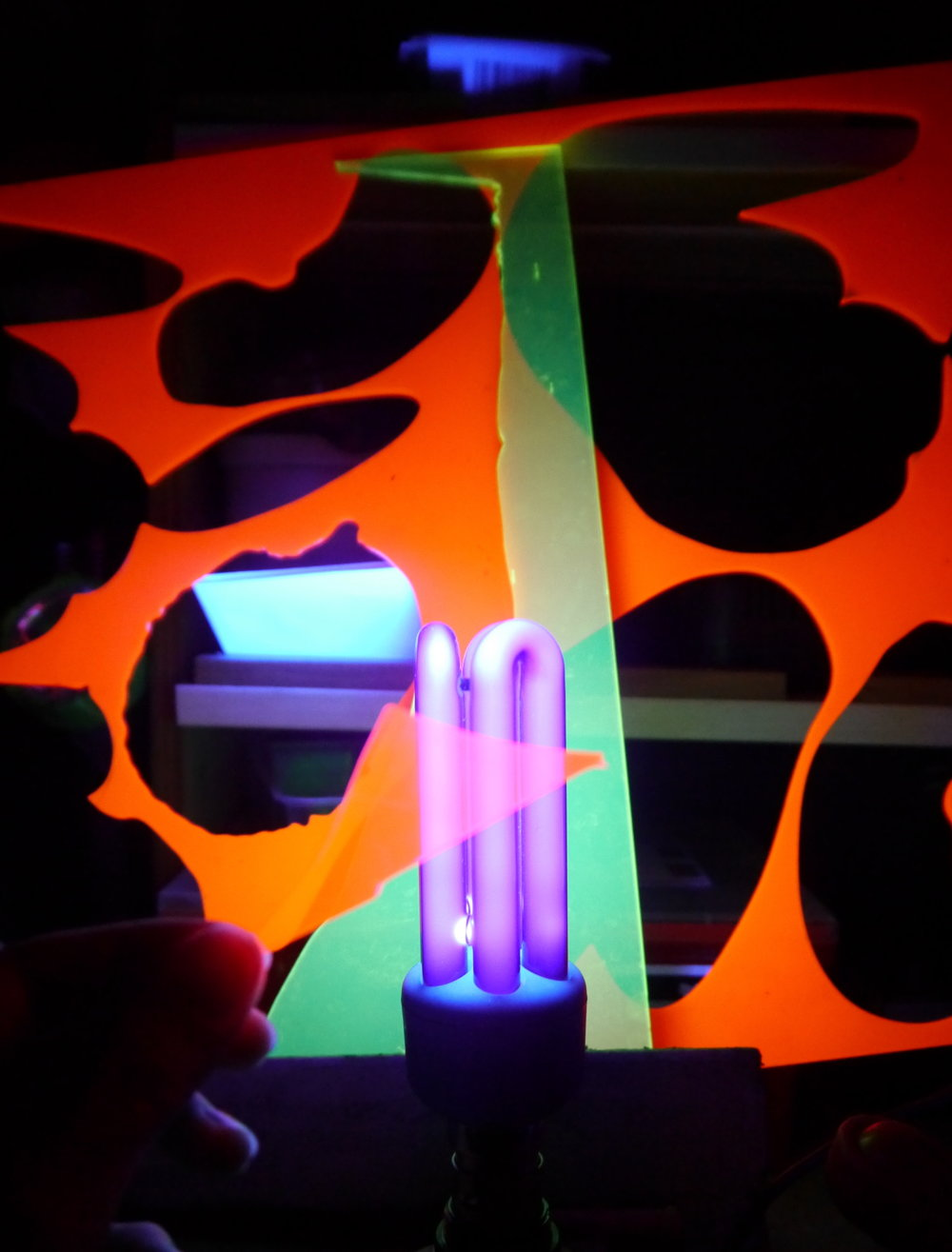 Arielle Walker Liam Mullins Perspex Blacklight Test.JPG