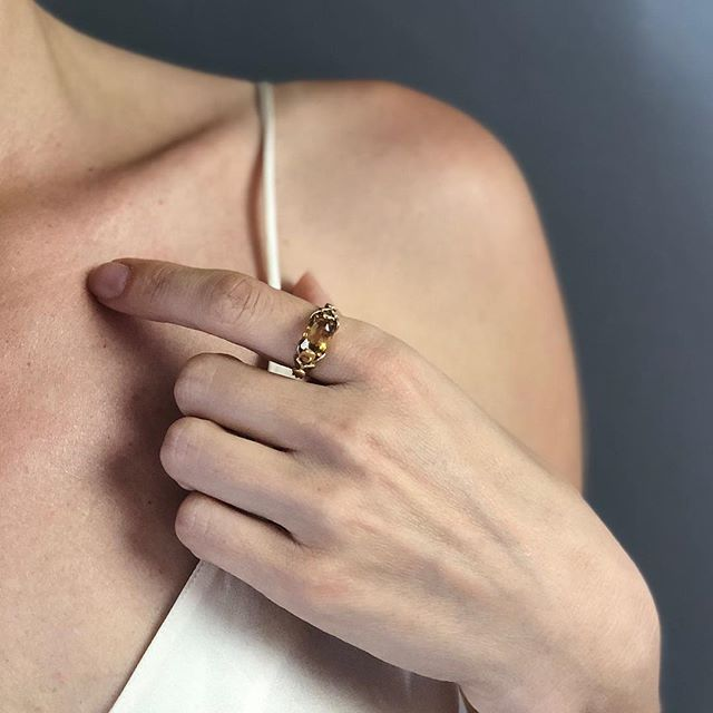 Discussing with @nicohoff and @kateserenitysavage the incredible energy shift we feel when wearing specific stones #frequency #energy #alchemy #stones #gems #petal #ring #finejewelry #yellow #sapphire #yellowgold #sun