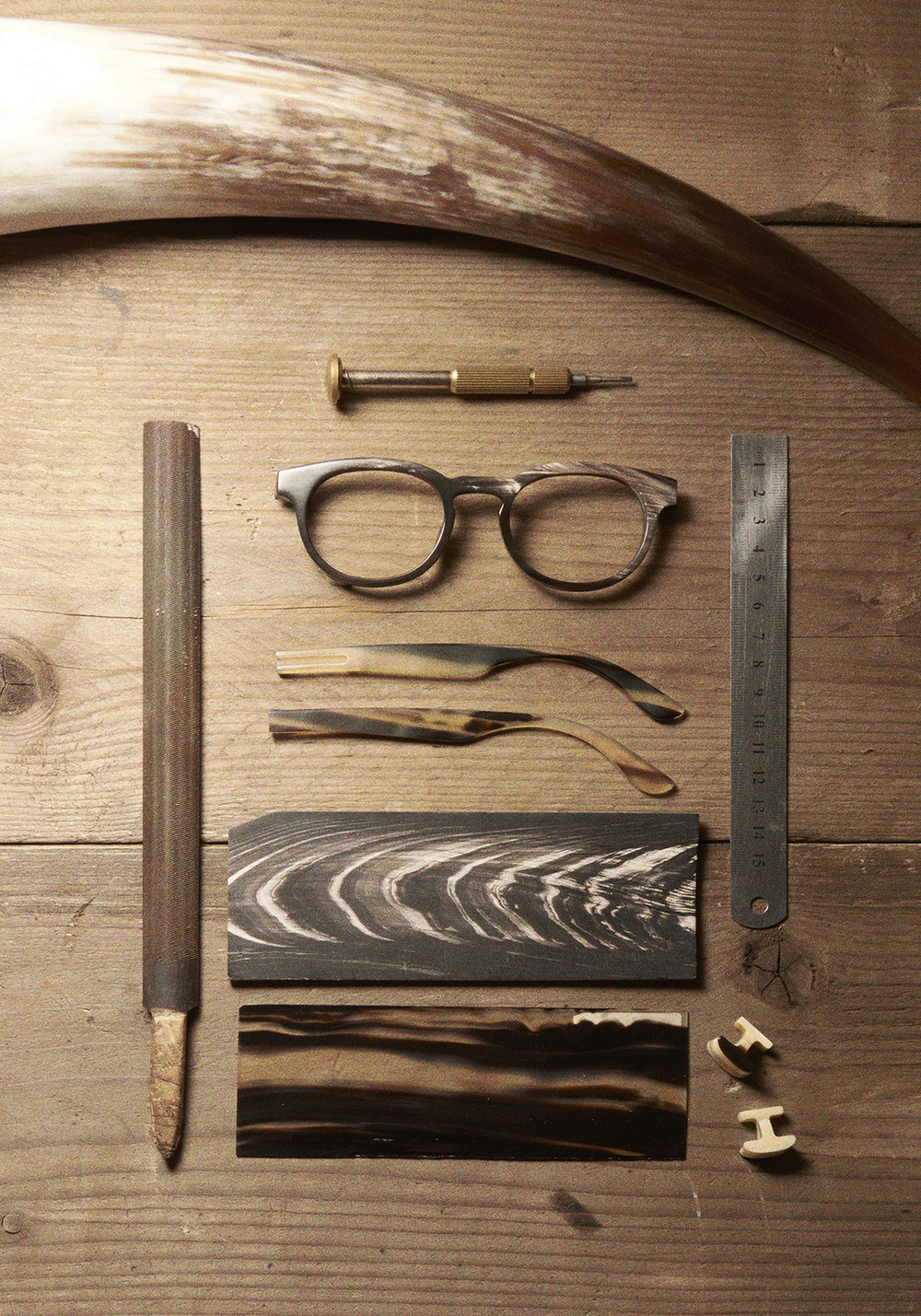 The tools used for the hand-crafted bespoke frames.
