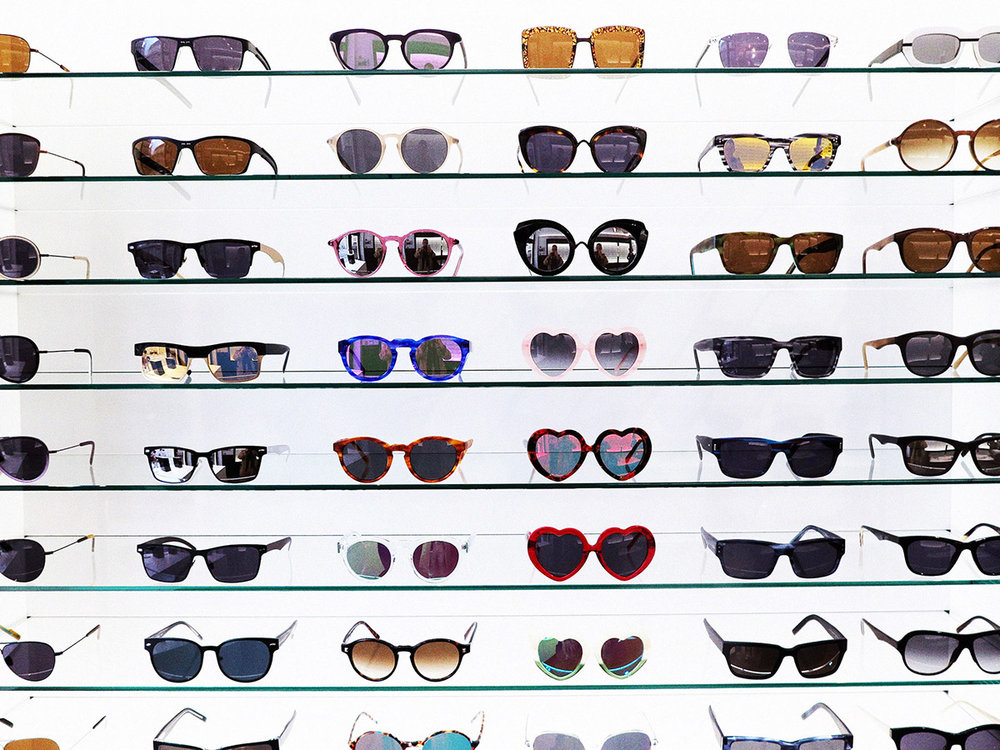 A multitude of Tom Davies frames of all colours, shapes, and sizes!