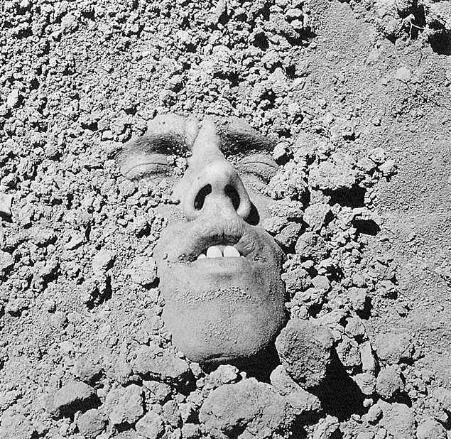 Untitled (Face in Dirt), 1990 Photograph by: David Wojnarowicz Silver Print Courtesy: Estate of David Wojnarowicz and P•P•O•W, New York ©Estate of David Wojnarowicz