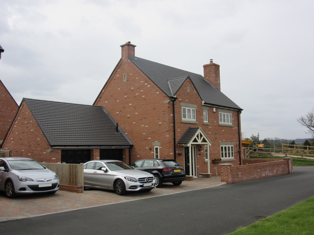 new build house with double garage