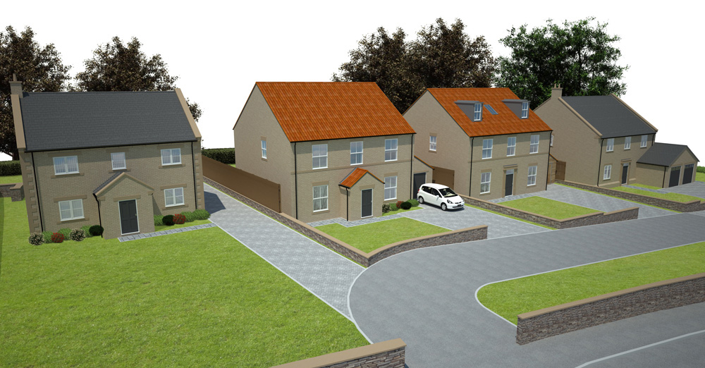 chesterfield residential development view
