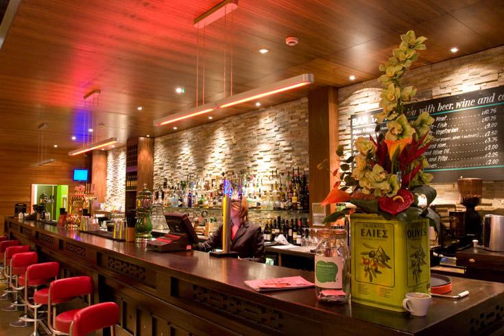 Internal photo of bar area