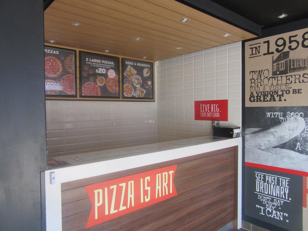 pizza hut counter