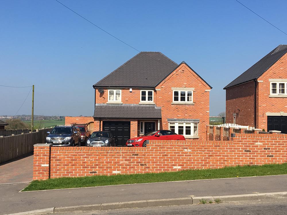 plot 1 red brickwork house