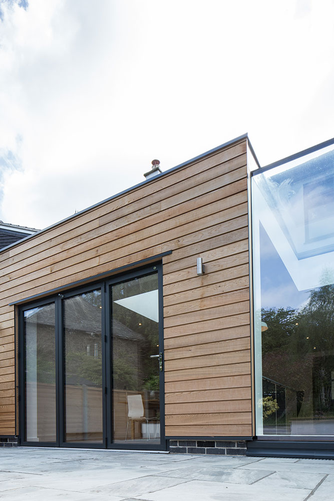 external view of floor to ceiling glazing