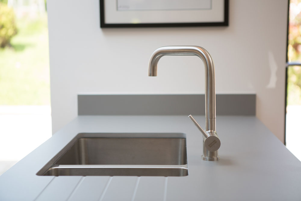 contemporary kitchne tap view