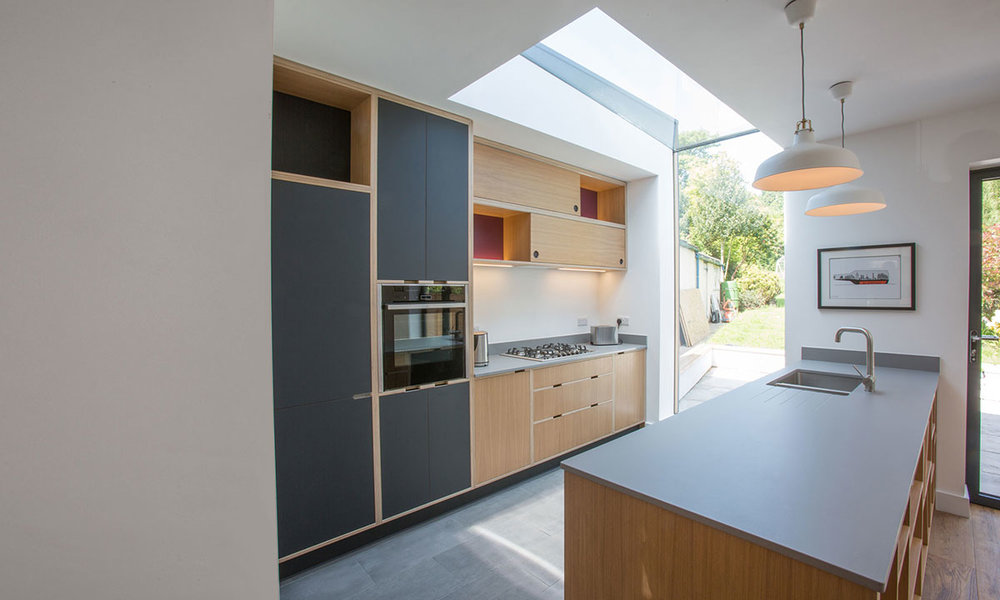 contemporary eaves glazing extension