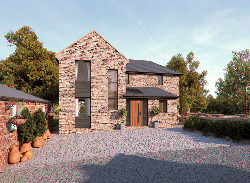 modern stone building chesterfield