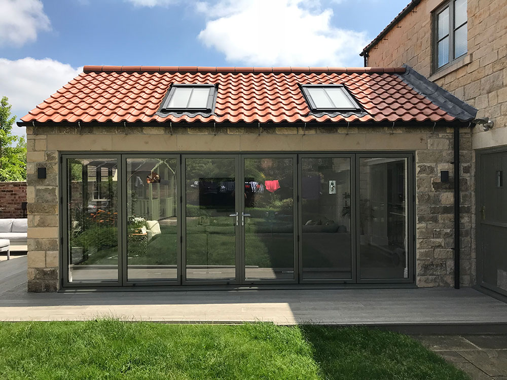 stone extension to barn building derbyshire