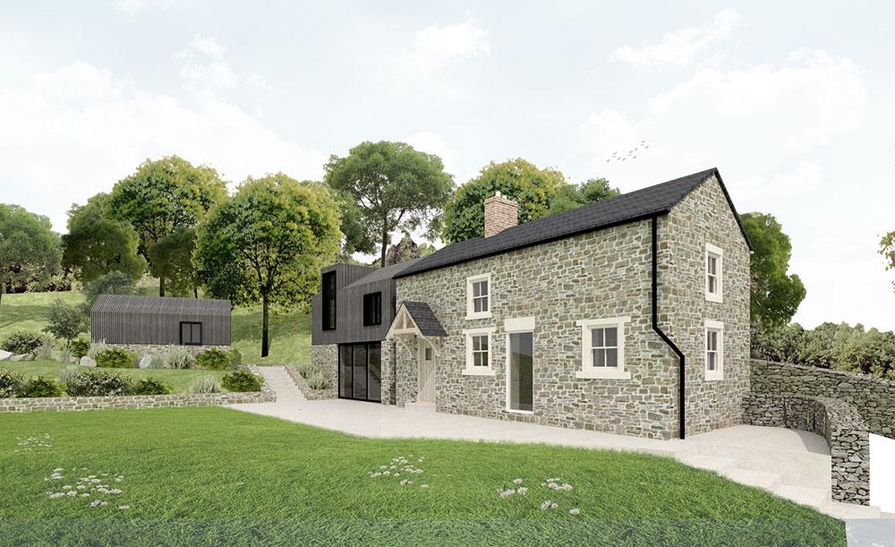 stone cottage extension derbyshire