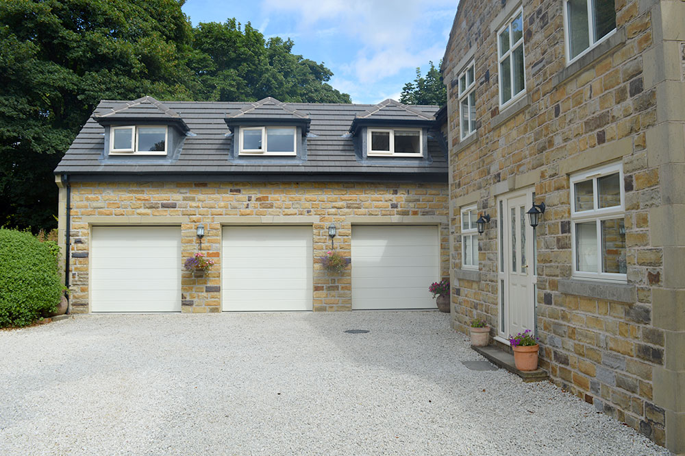 garage extension with rooms above