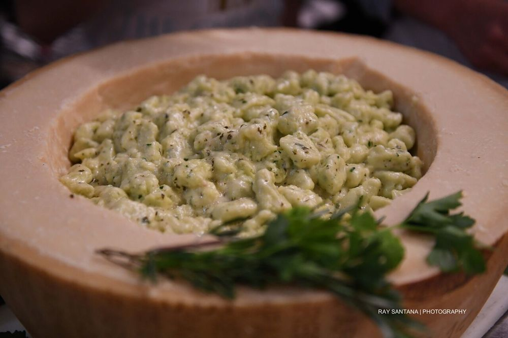 Parmigiano Reggiano & Cilantro Gnocchi with Key Lime Butter Sauce