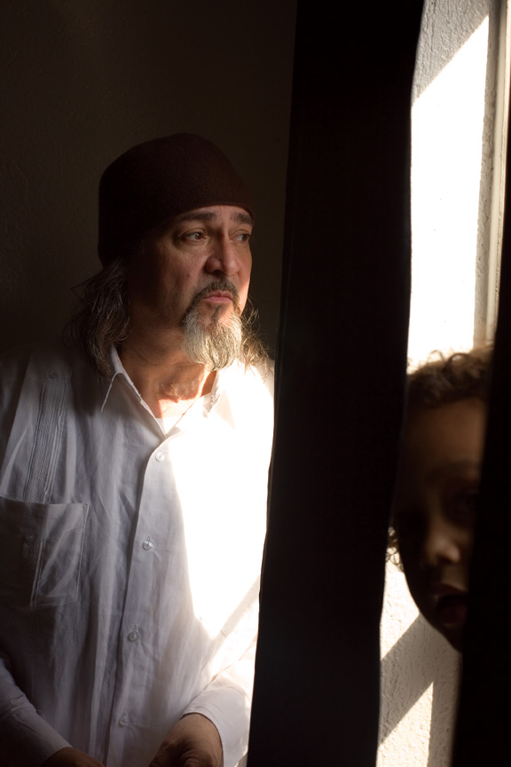 Bill Laswell and his son