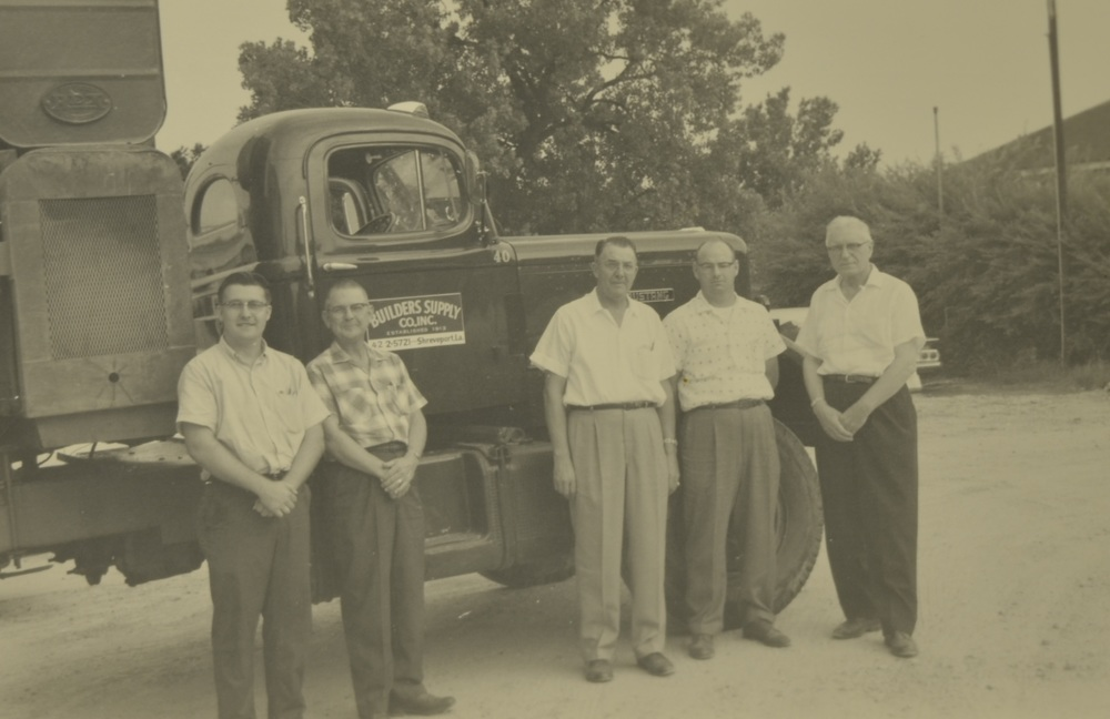 The sales staff pictured here in July 1961 include: Grady C. Golden, Charles Olson, N.R. Ward, J.W. Herring and J. Drew Moreland as Sales Manager.