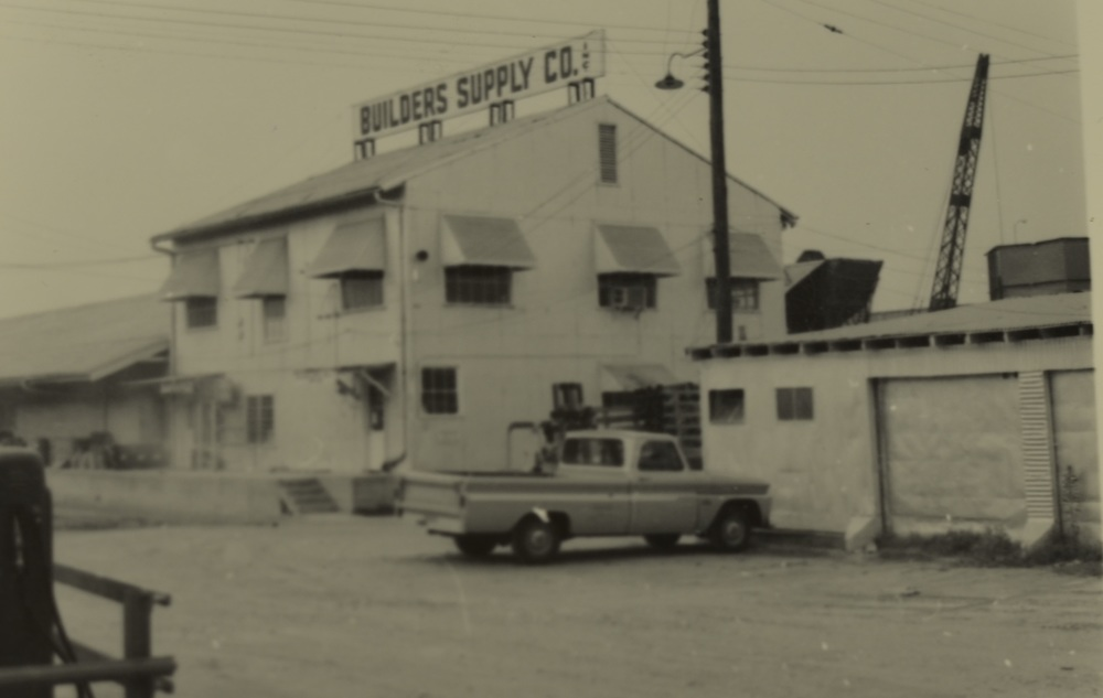 This picture shows the main office and warehouse as it looked in September 1966.