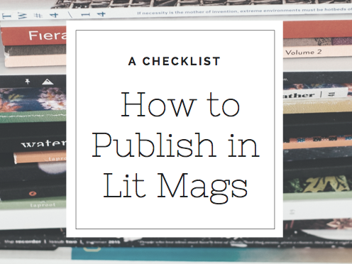 FREE Checklist with all the steps you need to take to publish your writing in journals.