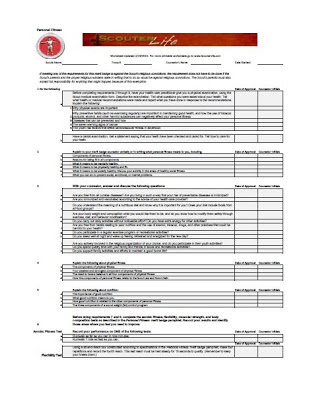 Personal Fitness Merit Badge Worksheet — ScouterLife