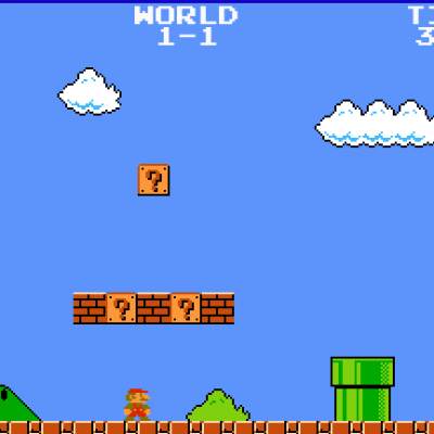 Click On The Image To Start Playing Super Mario Bros.