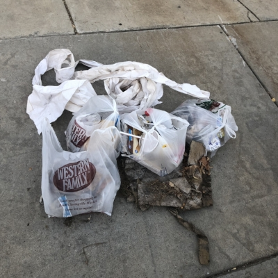 Trash From One Block