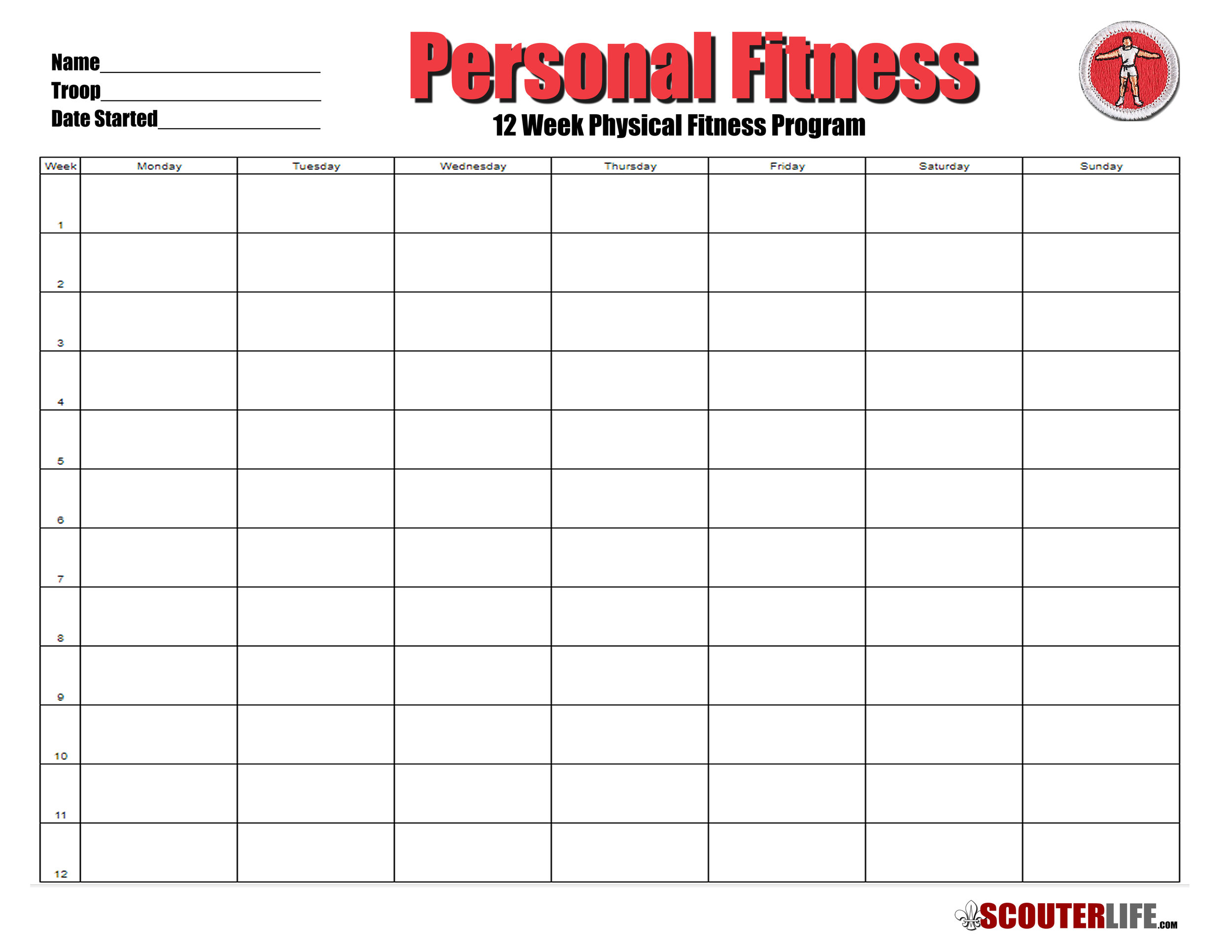 This is a picture of Printable Fitness Log regarding gym