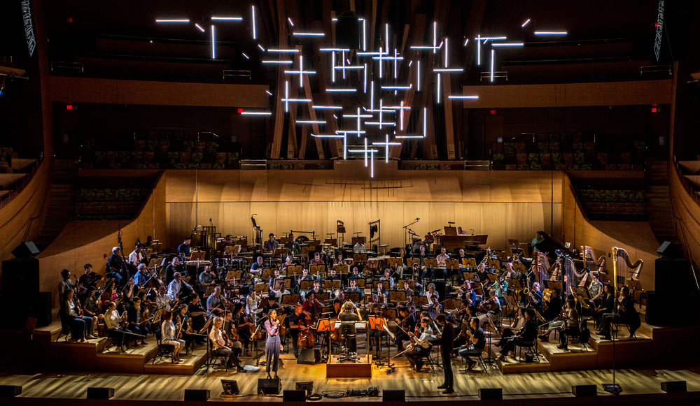 HARMONIUM, 2018   commissioned by the los angeles philharmonic for their 100 year celebration  Theatrical lighting and photo: Mikki kunttu
