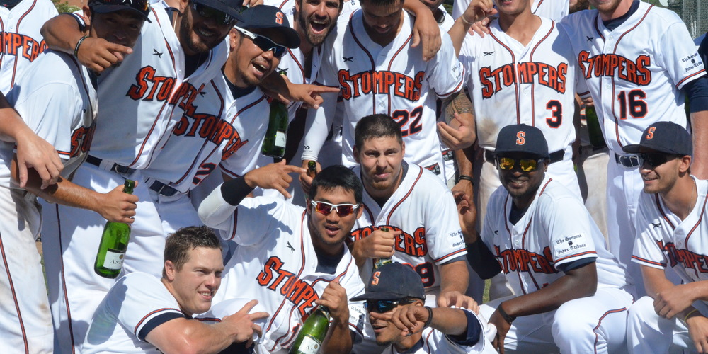 The Sonoma Stompers celebrate their first-half championship in July of 2015. The Stompers went on to the franchise's first ever championship game last August.   James Toy III/Sonoma Stompers