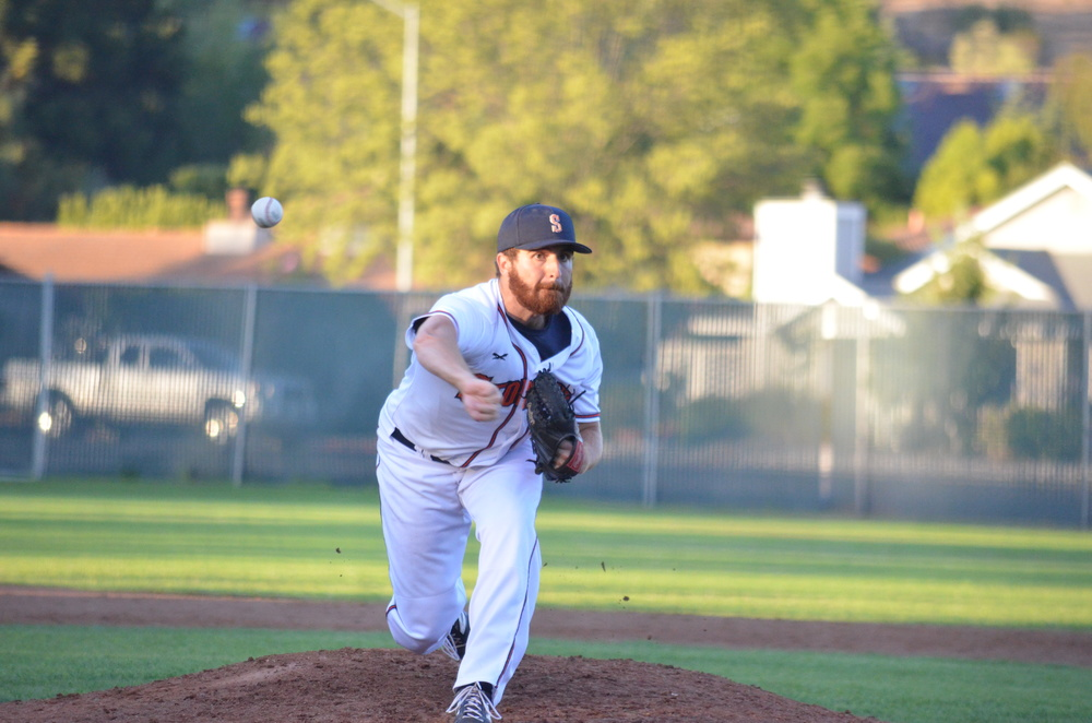 Stompers rookie right-handed pitcher Sean Conroy was one of the best stories in the Pacific Association in 2015, and he was voted the league's best relief pitcher. Danielle Putonen/Sonoma Stompers
