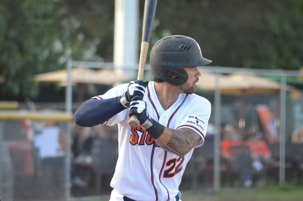 Sonoma Stompers outfielder, Mark Hurley, was named the 2015 Pacific Association's Rookie of the Year.   James Toy III/Sonoma Stompers