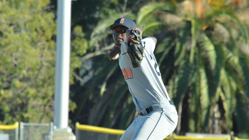 Gregory Paulino was phenomenal on Saturday, allowing only one run in eight innings while striking out eight.   James Toy III/Sonoma Stompers