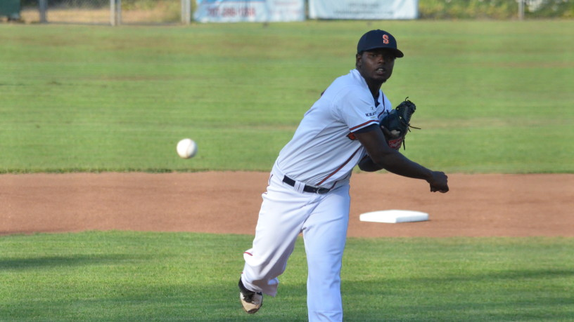 Gregory Paulino threw his second shutout of the season on Tuesday. James Toy III/Sonoma Stompers