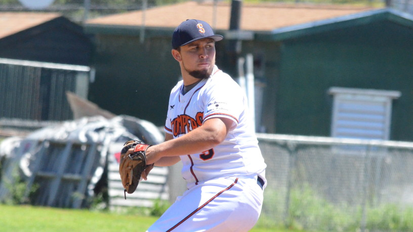 Santos Saldivar threw seven more shutout innings on Sunday, lowering his ERA to 0.98 on the season. James Toy III/Sonoma Stompers