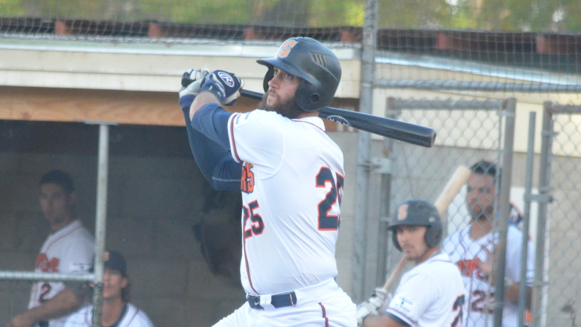 Isaac Wenrich had a big night on Thursday, as his three hits helped the Stompers to an 11-5 win over the Admirals.   James Toy III/Sonoma Stompers
