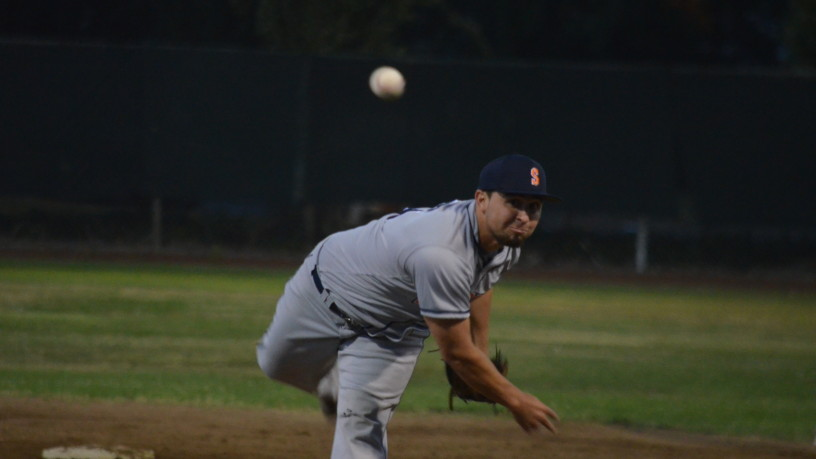 Santos Saldivar was stellar in relief Wednesday night for Sonoma.   James Toy III/Sonoma Stompers