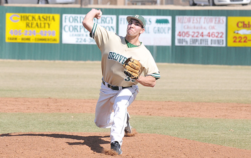 Right-handed pitcher Jose Flores went 10-2, with five complete games, and four shutouts in two seasons at the University of Science and Arts of Oklahoma.   Photo credit/USAO Athletics.