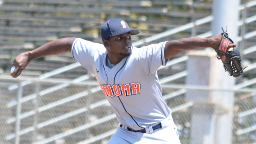 Gregory Paulino was again dominant against Vallejo, throwing 7 1/3 innings in Sonoma's 11-2 win over the Admirals. James Toy III/Sonoma Stompers