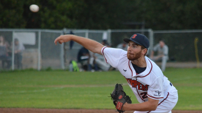 Sean Conroy was great for eight innings on Tuesday night, striking out six in his eight innings of work. He gave up his only two earned runs of the season in the ninth, taking 26 innings to do so.   James Toy III/Sonoma Stompers