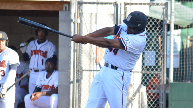 Daniel Baptista had four hits in Sunday's doubleheader, and his .348 batting average is the third best in the Pacific Association.   James Toy III/Sonoma Stompers