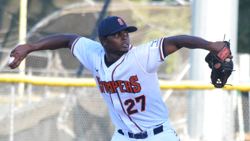Gregory Paulino was sensational on Wednesday night, throwing the second complete game shutout of the season for Sonoma.   James Toy III/Sonoma Stompers