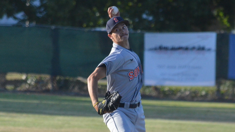 Jeff Conley threw six strong innings on Saturday evening, but Sonoma dropped their second straight game in a 3-1 loss to Vallejo on Friday night.   James Toy III/Sonoma Stompers