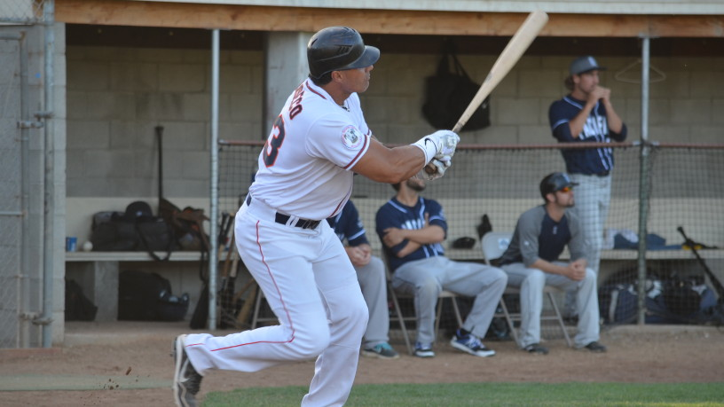 Jose Canseco was 2-for-4 with a truly remarkable solo home run that cleared the trees in left to lead off the sixth. It was the first of three runs that inning that fueled Sonoma's comeback win.   James Toy III/Sonoma Stompers