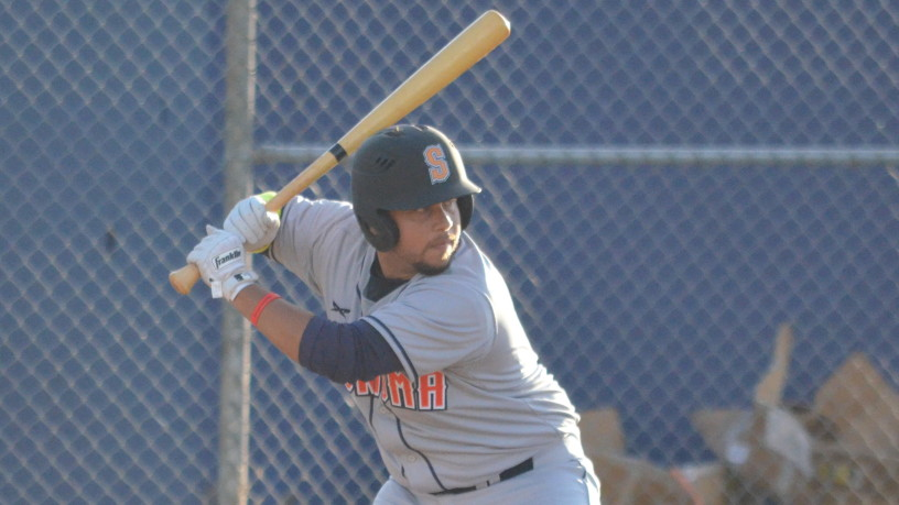 Sergio Miranda reached base four times on Wednesday night in Sonoma's 10-6 loss against San Rafael.   James Toy III/Sonoma Stompers