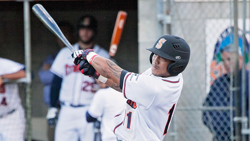 Gered Mochizuki had a home run, a double and two RBIs in Sonoma's 9-2 win over Pittsburg on Tuesday night. He's 4-9 in his first two games with Sonoma.   Danielle Putonen/Sonoma Stompers